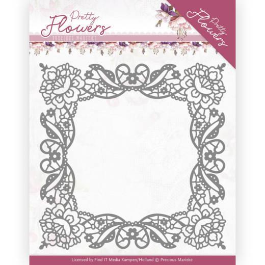 Dies - Precious Marieke - Pretty Flowers - Lace Frame