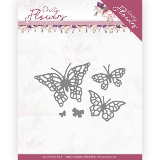 Dies - Precious Marieke - Pretty Flowers - Pretty Butterflies