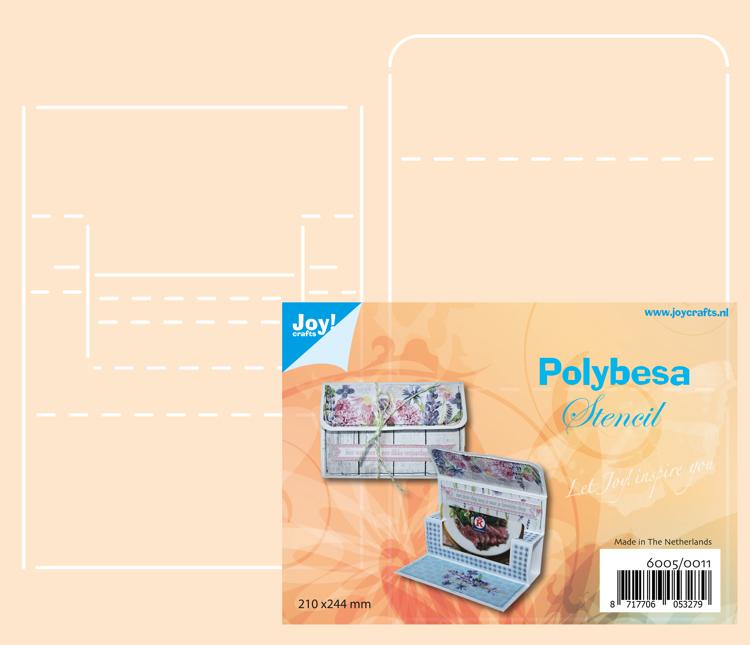 Polybesa stencil - Envelop voor kadokaart