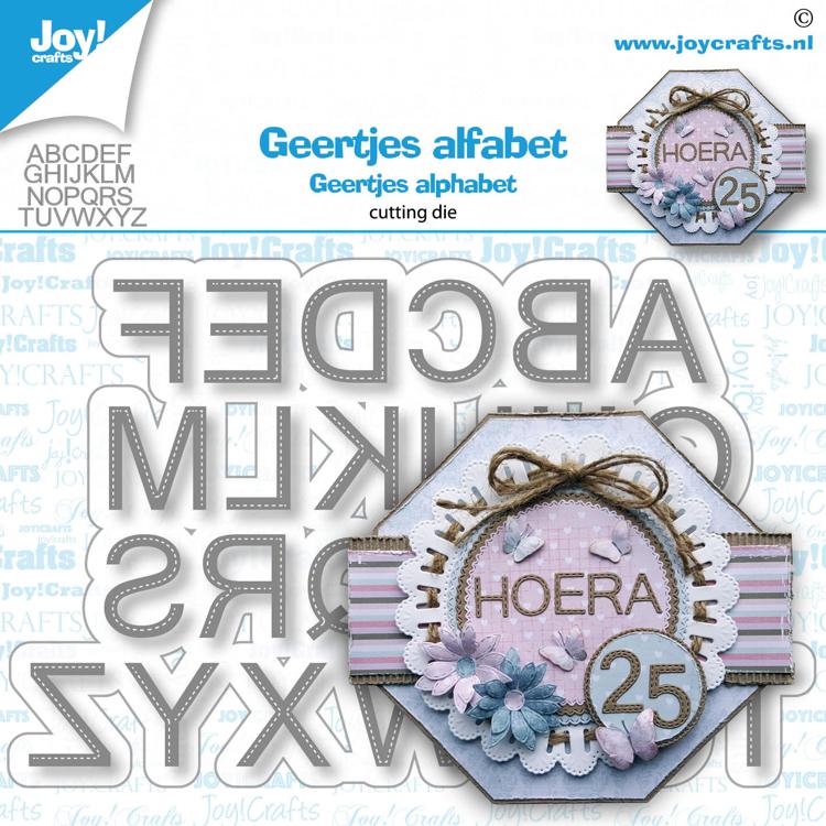 Stansmal - Geertje - Alfabet gestikt