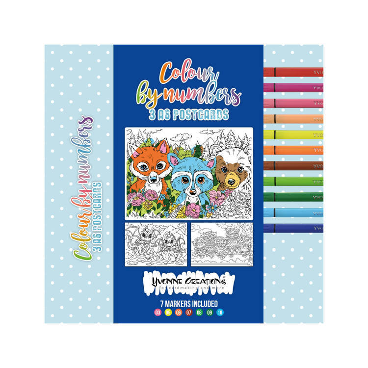Colour by Numbers - Colour cards