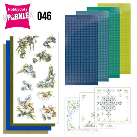 Sparkles Set 46 - Precious Marieke - Pretty Flowers - Blue Flowers