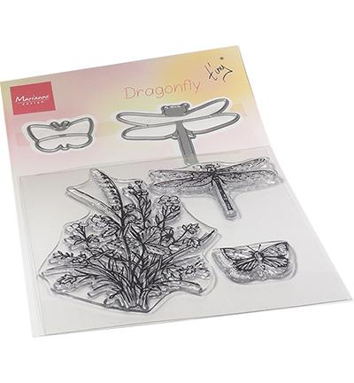 Tiny's Dragonfly stamp & die set