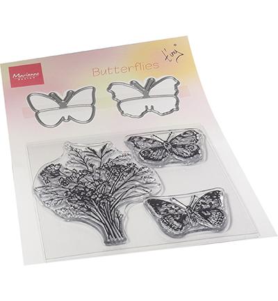 Tiny's Butterflies stamp & die set