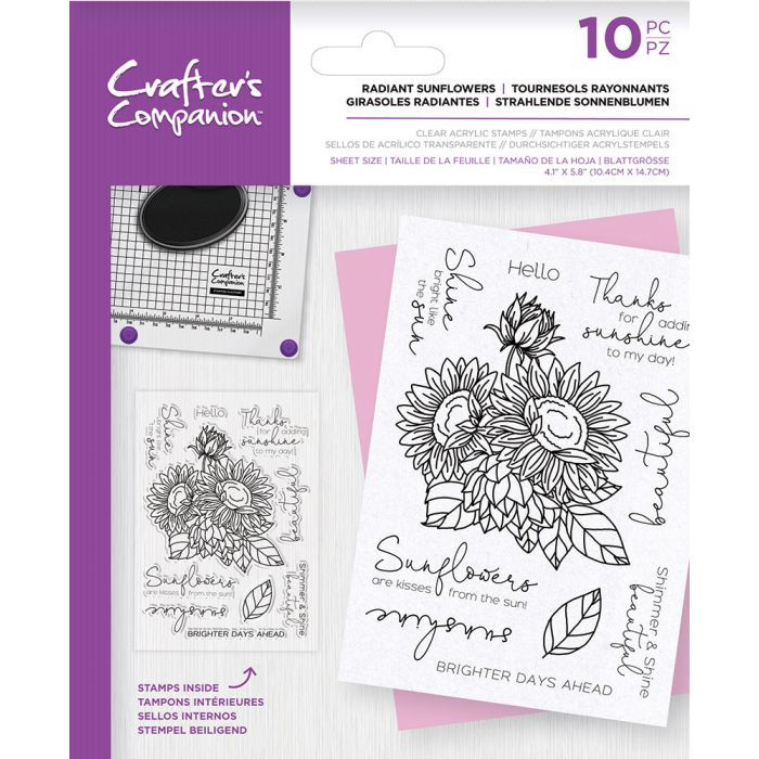 CC Clearstamp - Radiant Sunflowers