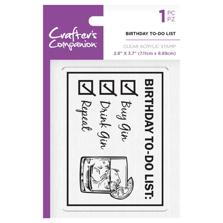 Crafter's Companion Clear stempel - Birthday To-Do list