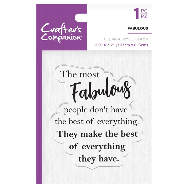 Crafter's Companion Clear stempel - Fabulous