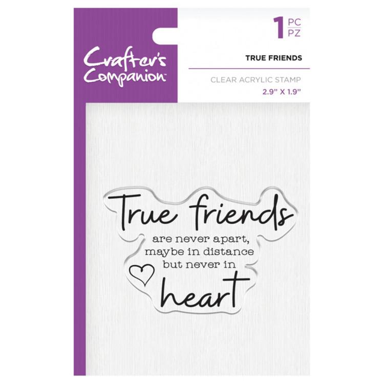 Crafter's Companion Clear stempel - True Friends