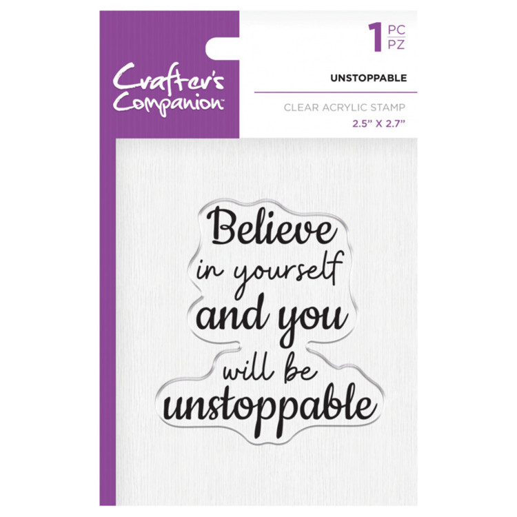 Crafter's Companion Clear stempel - Unstoppable