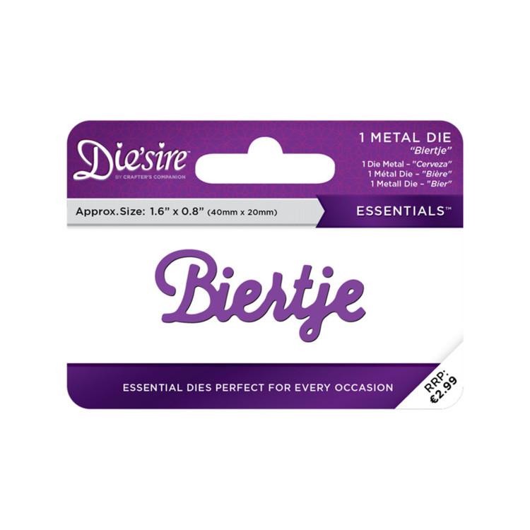 Crafter's Companion Die'sire Essentials Only Words Snijmal Nederlands - Biertje