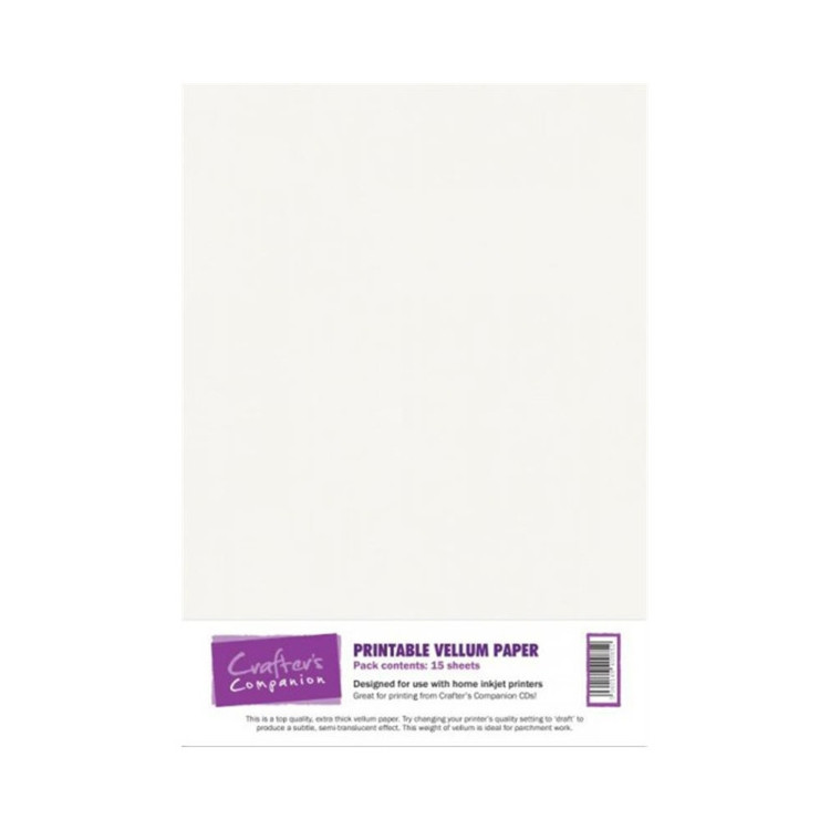 Crafter's Companion Printable Vellum Paper A4
