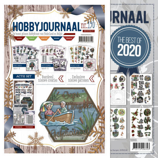 Hobbyjournaal 190 + knipvellenboek The Best of 2020 combinatie