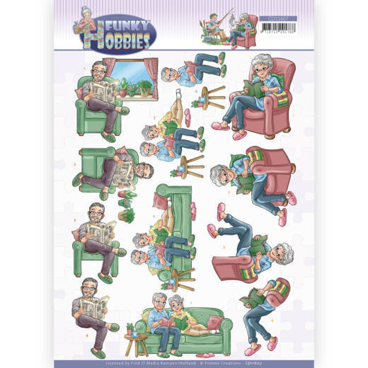 3D cutting sheet - Yvonne Creations - Funky Hobbies - Reading