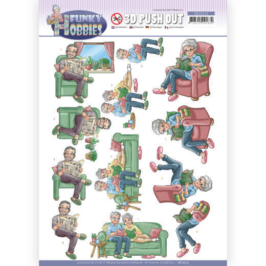 3D Push Out - Yvonne Creations - Funky Hobbies - Reading