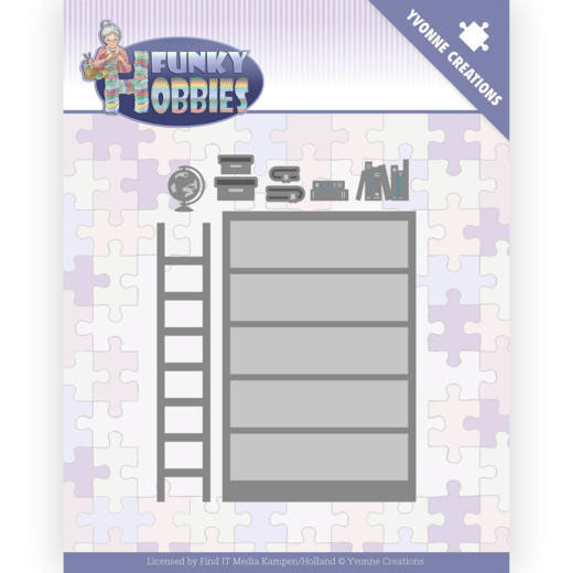 Dies - Yvonne Creations - Funky Hobbies - Bookcase