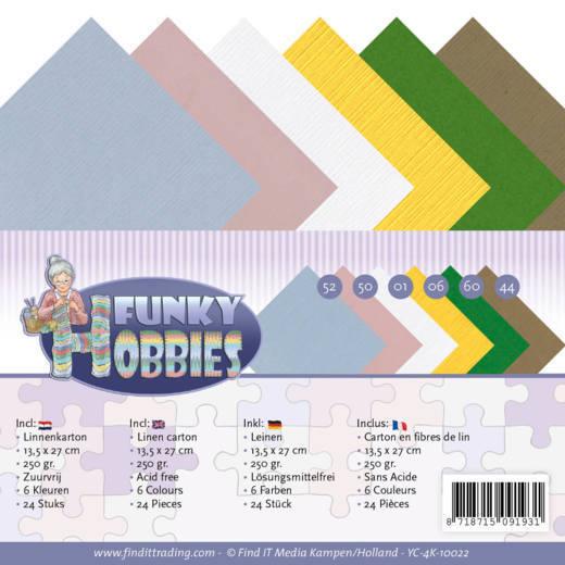 Linen Cardstock Pack - 4K - Yvonne Creations - Funky Hobbies