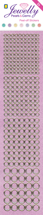 Jewelly P&G Dots Pearl Pink 2 sheets 5x23cm