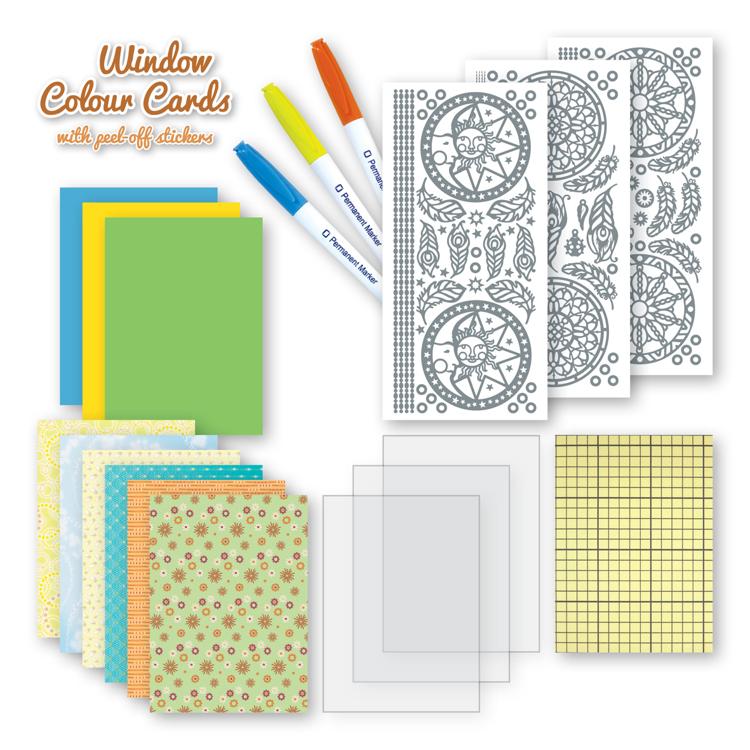 Window colour cards set Dreamcatchers
