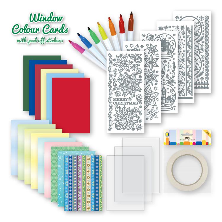 Window colour cards Kit Christmas