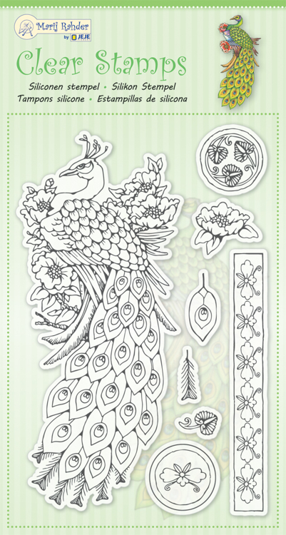 MRJ Clear stamps Peacock