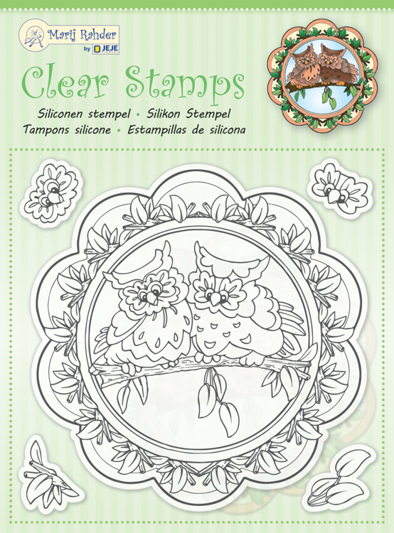 MRJ Clear stamps Owls