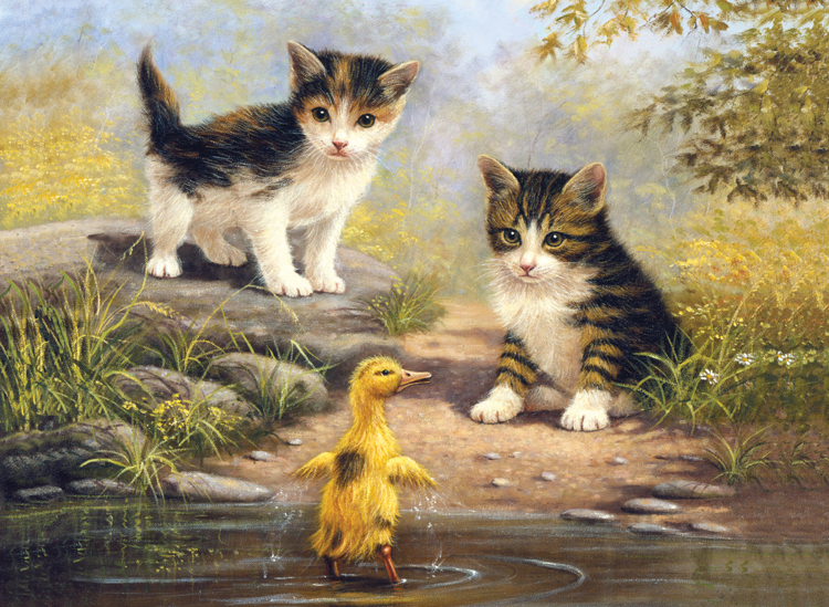 Painting by numbers POND PALS