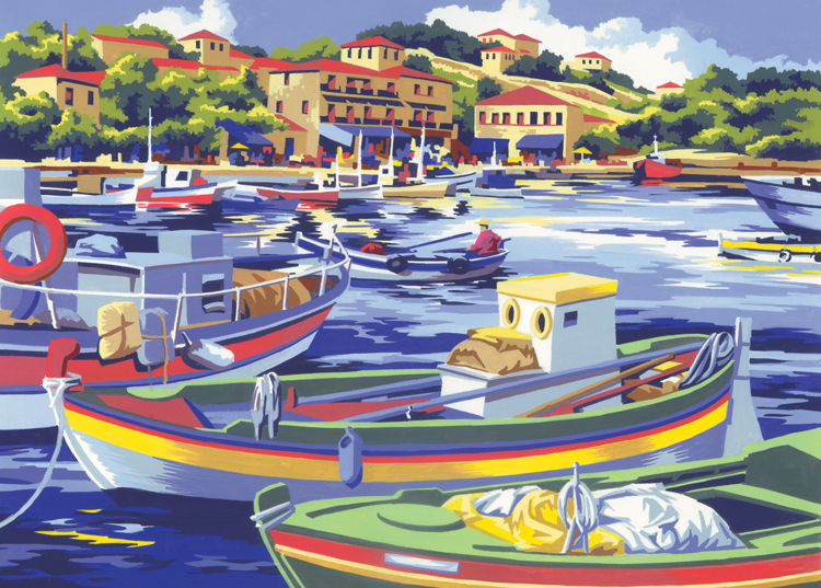 Painting by numbers MEDITERRANEAN FISHIN