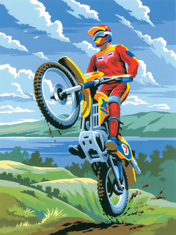 Painting by numbers  MOTOCROSS