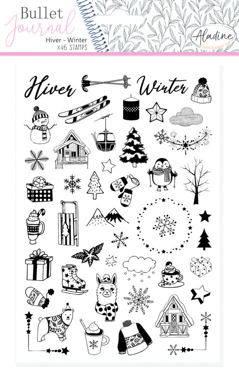 Stamp Bullet Journal Winter
