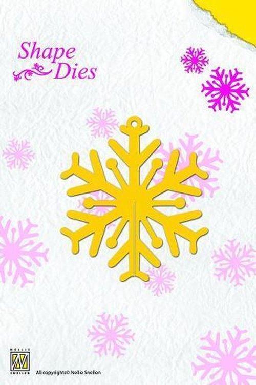 Nellies Snellen Shape Die snijmal ijskristal - sneeuwvlok SD006