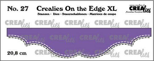 Crealies On the edge XL Die stans no 27 CLOTEXL27 20,8cm (12-20)