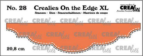 Crealies On the edge XL Die stans no 28 CLOTEXL28 20,8cm (12-20)