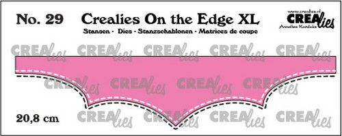 Crealies On the edge XL Die stans no 29 CLOTEXL29 20,8cm (12-20)