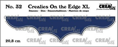 Crealies On the edge XL Die stans no 32 CLOTEXL32 20,8cm (12-20)