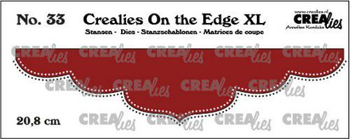 Crealies On the edge XL Die stans no 33 CLOTEXL33 20,8cm (12-20)