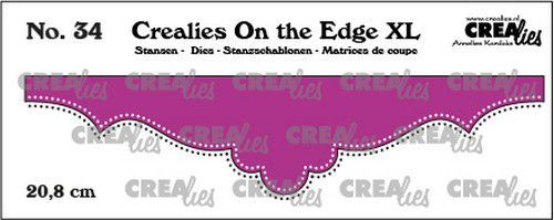 Crealies On the edge XL Die stans no 34 CLOTEXL34 20,8cm (12-20)