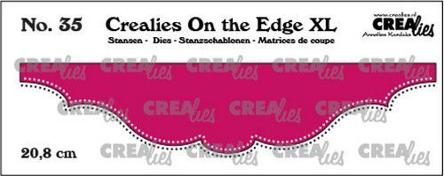 Crealies On the edge XL Die stans no 35 CLOTEXL35 20,8cm (12-20)