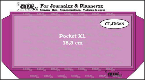 Crealies Journalzz & Pl Pocket XL met twee lagen CLJP655 18,3x8,5cm (12-20)