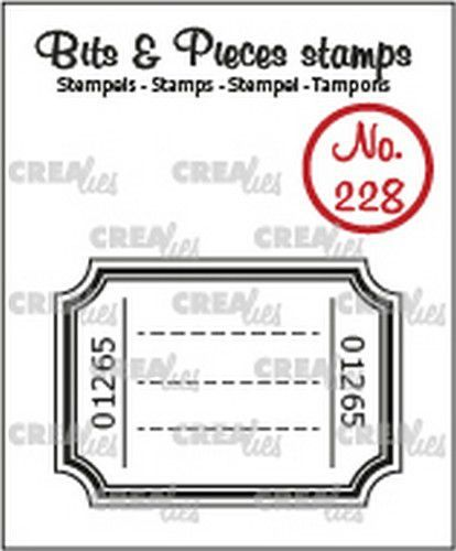 Crealies Clearstamp Bits & Pieces Ticket CLBP228 42x30mm (12-20)