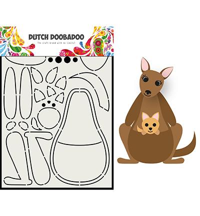 Card Art Built up Kangaroo