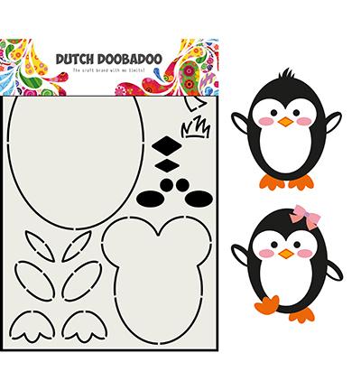 Card Art Built up Pinguin