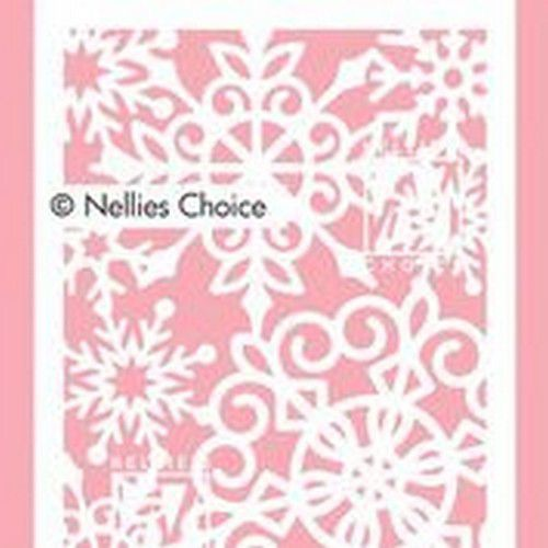 Nellie's Choice Mixed Media Stencils Grote sneeuwvlokken MMSA6-013 A6 (12-20)