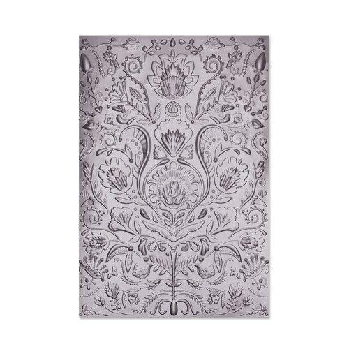Sizzix 3-D Textured Impressions Embossing Folder  - Folk Doodle 664527 Jessica Scott (01-21)