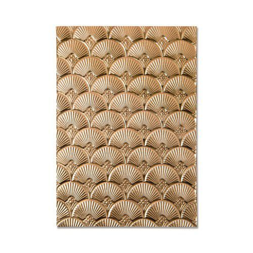 Sizzix 3-D Textured Impressions Embossing Folder - Art Deco 664507 Kath Breen (01-21)