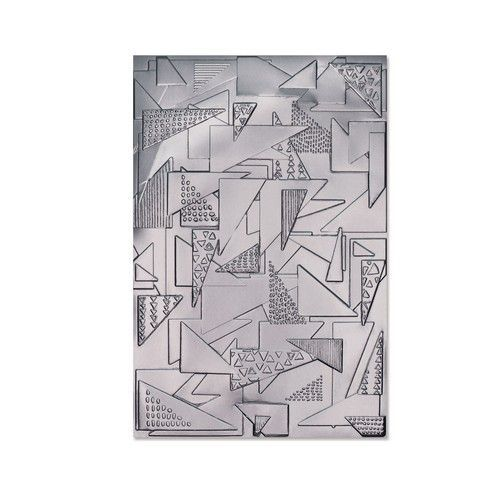 Sizzix 3-D Textured Impressions Emb.Folder - Doodle Triangles 664528 Jessica Scott (01-21)