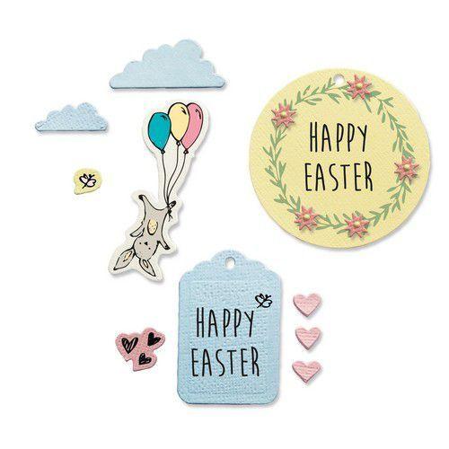 Sizzix Framelits Die Set - 9PK w/Stamps - Easter Fun 665065 Lisa Jones (01-21)