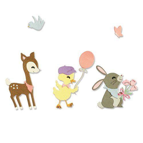 Sizzix Thinlits Die Set - 5PK Baby Animals 665070 Jen Long-Philipsen (01-21)