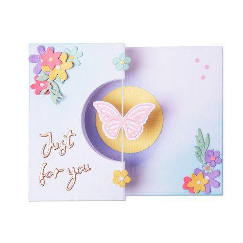 Sizzix Thinlits Die Set - 14PK Butterfly Spinner Card 665074 Georgie Evans (01-21)