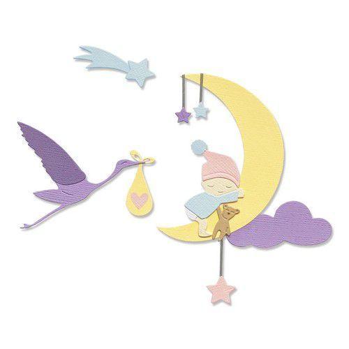 Sizzix Thinlits Die Set - 9PK Lunar Baby 665085 Olivia Rose (01-21)