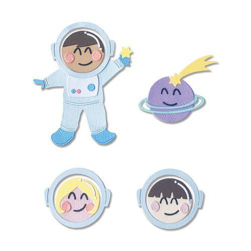 Sizzix Thinlits Die Set - 13PK Astronaut  (Works with  663559) 665090 Olivia Rose (01-21)